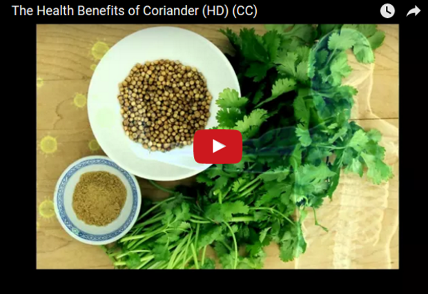 The Health Benefits of Coriander (video)