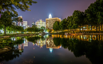 The Links between City Living and Better Health_Charlotte, North Carolina skyline
