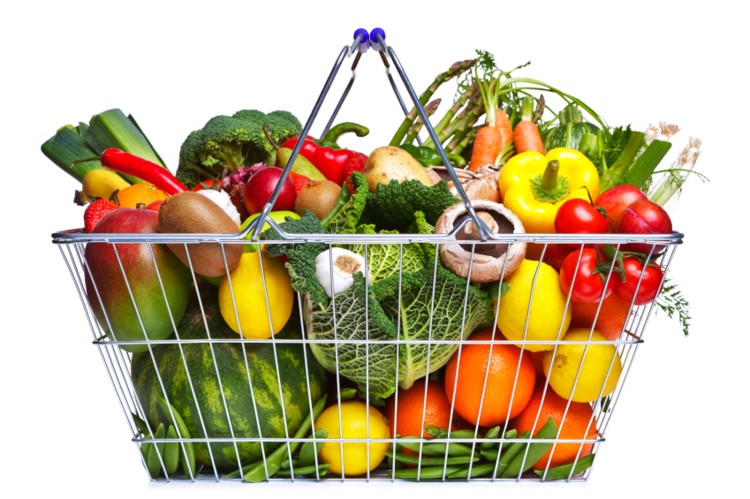 chemotherapy and your diet_ basket of produce, fruits and veggies
